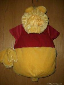 New Disney Store Winnie the Pooh Bear Plush Costume 6-12 Mo