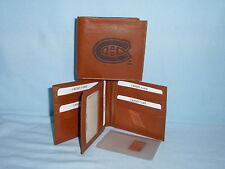 MONTREAL CANADIENS    Leather BiFold Wallet   NEW    brown  k  4+