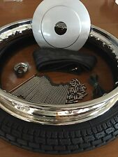 FREE HUBCAP!!! NEW TIRE/WHEEL/S.S. SPOKES/S.S.HUB NUT PACKAGE WITH FREE HUBCAP