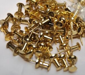 Pack of 50 Push Pins Gold Effect Ideal for Cork Board