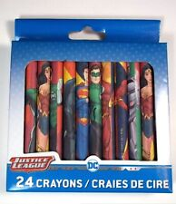 Dc Justice League boxed 24 crayons New