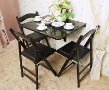 SoBuy® Folding Wall-mounted Drop-leaf Table Desk, 75x60cm, FWT01-SCH, Black, UK