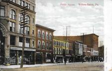 Nice Street View of the Public Square in Wilkes Barre Pa Handsome Vintage unused