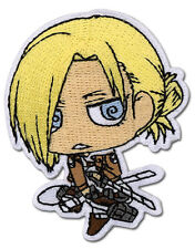 """Attack on Titan Annie SD Patch 3"""" x 2"""" Licensed by GE Animation 44796 Free Ship"""