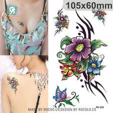 2 Pcs Harajuku Waterproof Temporary Tattoos For Lady Women Sexy 3D Dream Flower