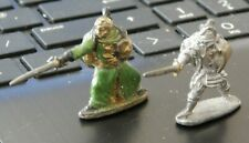 DUNGEONS & DRAGONS VINTAGE LEAD TRAVELING  KNIGHT & ELF  FIGURES  30mm