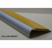 STAIR NOSING 1.2 METRE LENGTH - WITH 50mm YELLOW RUBBER INSERT- $22.00ea