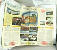 Vtg 1946 Greyhound Bus Lines Travel Brochure Picture Map of This Amazing America