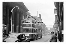 pt8967 - Doncaster Trolleybus 346 at Frenchgate in 1955 - photograph 6x4