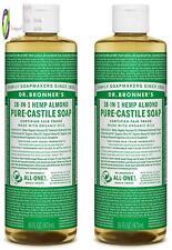 Dr. Bronner'S Organic E Castile Liquid Soap, Almond Scent, 16 Oz, 2 Pack