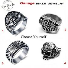 Harley-Davidson Men's Ring,Bike,Biker Ring,Stainless Steel,Jewelry Motor Cycles