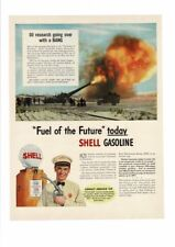 VINTAGE OLD SHELL GASOLINE OIL RESEARCH GAS PUMP SERVICE STATION AD PRINT