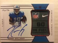 Kenny Golladay 2017 National Treasures Red Nike NFL Tag On Card Auto RPA RC 1/1!