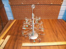 Vintage Metal Table-Top Christmas Tree w Ornaments
