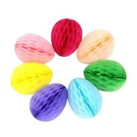14PCS Easter Egg Silhouette Hanging Decorations - Honeycomb Hanging Paper B L5S5