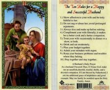 Holy Cards eBay - The Ten Rules For a Happy and Successful Husband HC9-468E