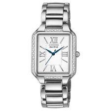 Citizen Eco-Drive Ciena Diamond White Silver Tone Women's Watch EM0190-52A SD3