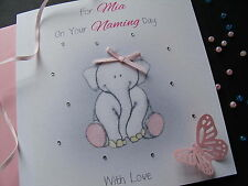 Personalised Luxury Handmade Christening/Naming Day Card - Boy or Girl options