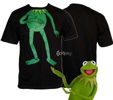 Mens Disney Muppets Kermit the Frog Headless T Shirt Sizes S-2XL Cotton Black