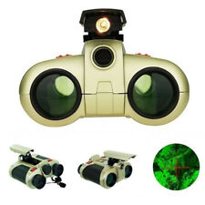 4x30 Night Vision Viewer Surveillance Spy Scope Binoculars Fly-out Light T t/