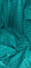 Teal Green Broderie Anglaise Fabric 45'' PRICE PER METER