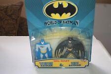 WORLD OF BATMAN WAL-MART GOTHAM CITY & KNIGHT WATCH BATMAN 2 PACK NEW