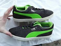 Men's PUMA Suede Classic Gray  Green White Lace Sneakers Shoes Size 12