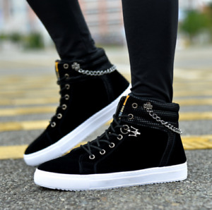 2021 Mens Oxfords Casual High Top Shoes Lace Up Skateboard Sneakers boots