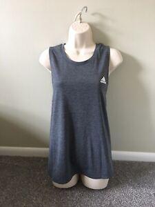 Adidas Womens Primegreen Gray Muscle Activewear Gym Tank (XXL)