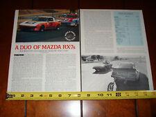 1979 MAZDA RX7 - ORIGINAL ARTICLE STOCK VS RACING - ORIGINAL ARTICLE