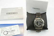 SEIKO Sport Solar Pro Diver 200m Black Men's Watch - SNE281P1