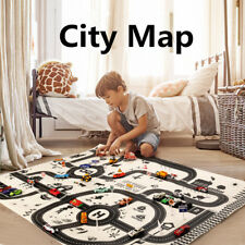 Nordic Black White City Road Map Traffic Routes Playing Game Portable Mat Toys