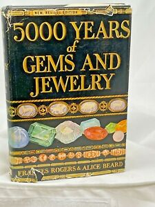 5000 Years of Gems and Jewelry Rogers & Beard Hardbound Book w/ DJ  1947 Revised