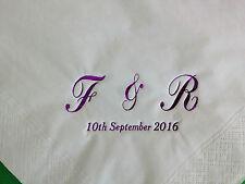 50 X PERSONALISED MONOGRAM ALPHABET NAPKINS 2PLY 33CM WEDDING, ANNIVERSARY