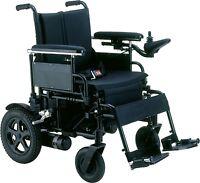 "Drive Medical Cirrus Plus HD 22"" Heavy Duty Electric Power Folding Wheelchair"