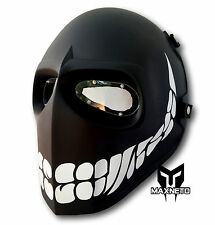 MAXNETO ARRMY CS WAR BB GUN GAME AIRSOFT PAINTBALL TACTICAL MASK BLACK SMIELY