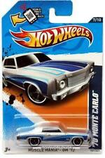 2012 Hot Wheels #107 Muscle Mania GM '70 Monte Carlo silver walmart exclusive