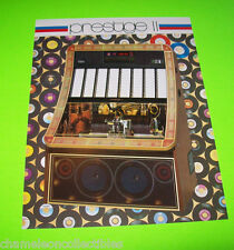 Prestige Ii By Nsm 1980 Original Nos Jukebox Phonograph Promo Sales Flyer