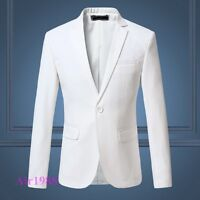 Mens Slim Fit Blazer Suit One Button Dress Formal Coat Casual Jacket  US XS-3XL