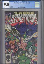 Secret Wars #6 CGC 9.0 1984 Marvel Comics Jim Shooter Story: New Frame