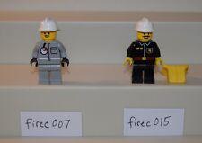 Lego Minifigure Town Fire Air firec007 firec015 LOT of 2 6571 6340 1248   #LX755