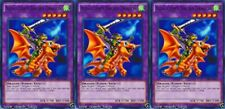 Alligator's Sword Dragon 1st X 3 YUGIOH LDK2-ENJ43 Effect Fusion Monster