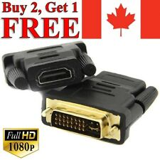 DVI-I 24+5 Dual Link Male to HDMI Female Adapter Converter Gold Plated Connector
