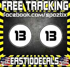 "12"" Circle Rally side car Door # Number JDM Mini VW Racing Sticker Vinyl Decal"