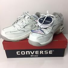 NIB CONVERSE 7.5 WORK SHOES White Women's Leather OXFORD COMPOSITE TOE
