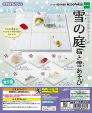 Garden Cat Mini Diorama Series Snow And Snow Play 5pcs - Epoch    , h#4ok