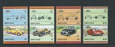 1985 Leaders of the World - Automobiles Set of 8 Complete MUH/MNH as Issued