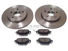 Mondeo ST Est 2.2 TDCi 04-07 Rear Brake Discs Black DimpledGrooved Mintex Pads