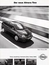 Nissan - Almera Tino  - Preisliste - 02/2001  - Deutsch - nl-Versandhandel