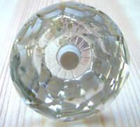 Swirl large cut glass wardrobe /& cupboard pulls door knobs brass base